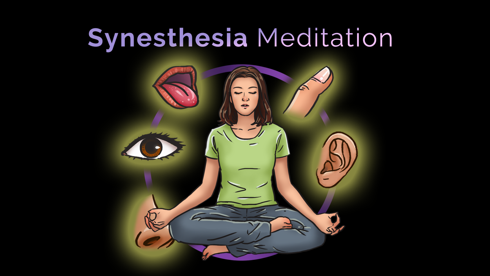 Synesthesia Meditation is a Mix between traditional midnfulness and synesthetic explorations. It involves all your senses.