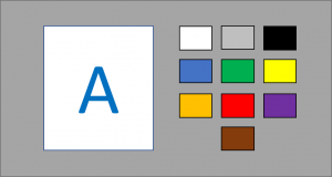 Synesthesia tests: Color picker with a subset of colors